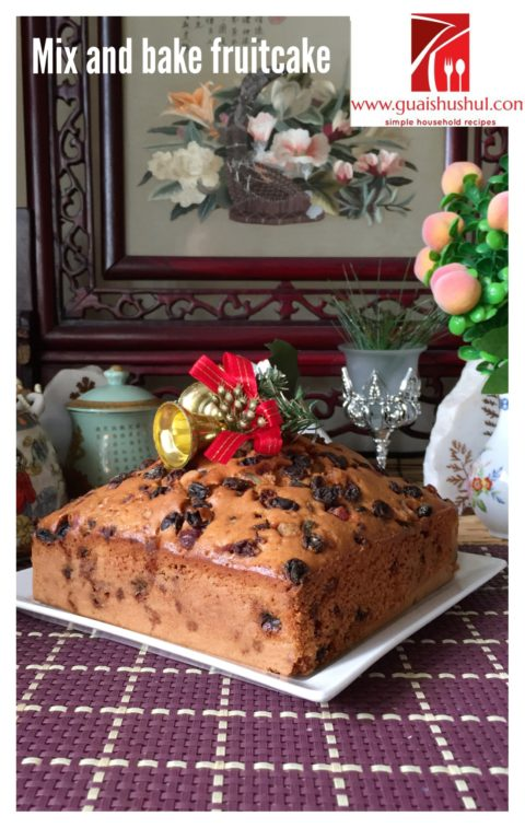 Simple Mix And Bake Fruit Cake With Royal Icing 简易杂果蛋糕