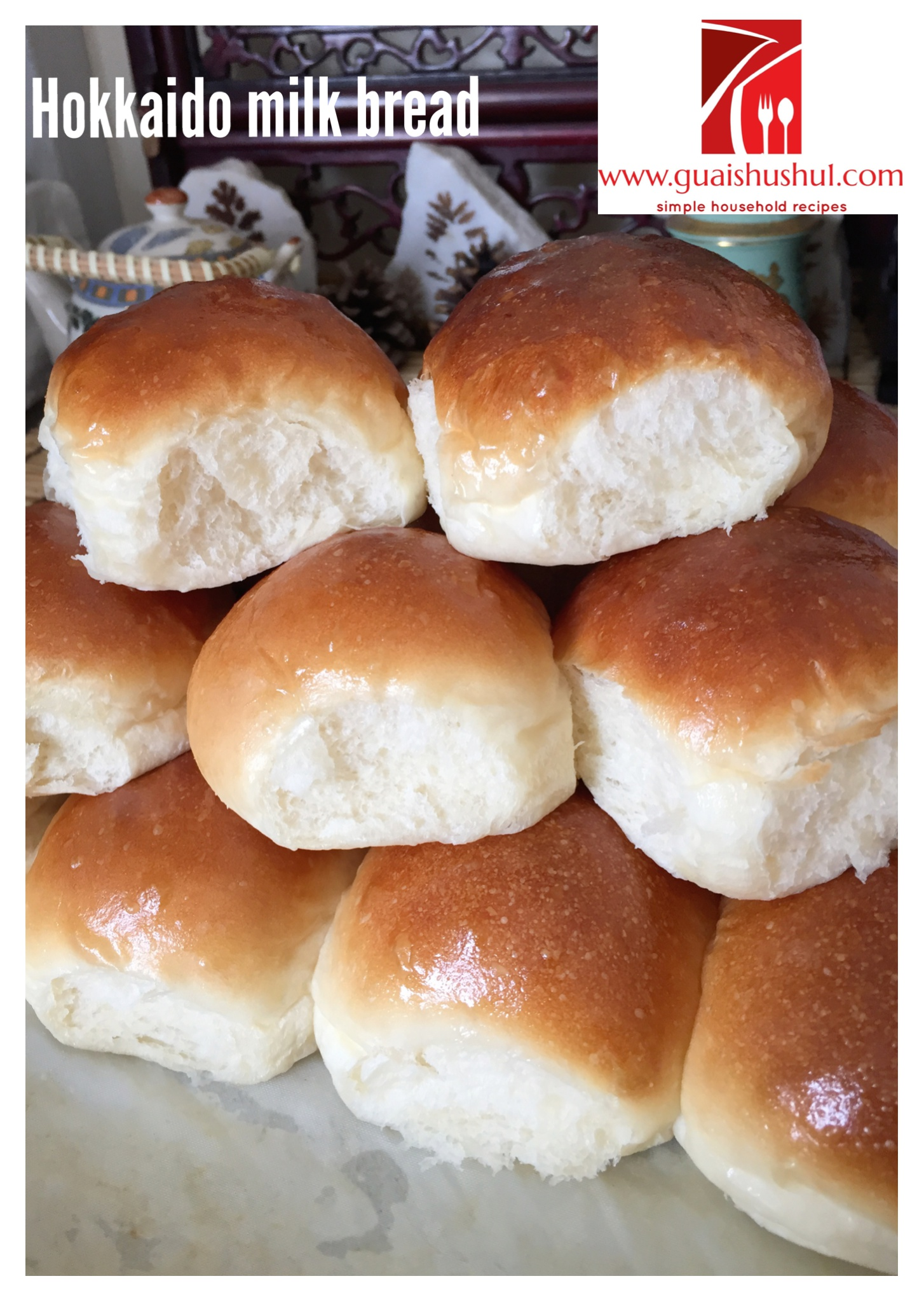 Tell me an easy recipe of buns with jam