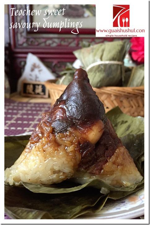 Teochew aka Chaozhou Sweet And Savoury Dumplings (潮汕双拼肉粽) - Guai Shu Shu