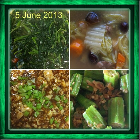 What I cooked today (家常便饭系列)- 5-6-2013 2
