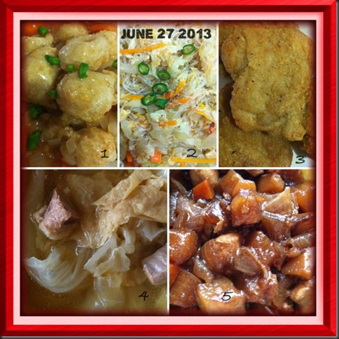 What I cooked today (家常便饭系列)- 27-6-2013 2