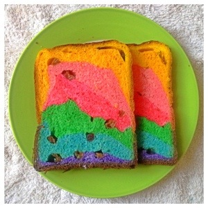 How I Wish This World Is As Colourful As A Rainbow–Cranberries Raisins Rainbow Loaf 38