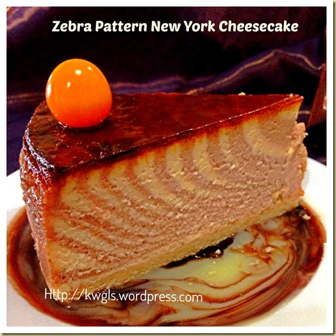 Thanksgiving 2013 is approaching–How About A Zebra Pattern Baked New York Cheesecake 47