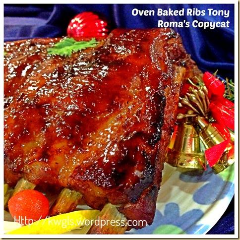 Having Oven Baked Ribs for Christmas Dinner? Tony Roma's BBQ Baby Ribs Copycat 33