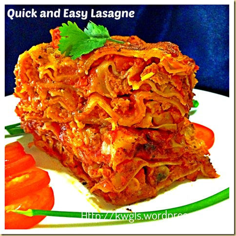 Easy Peasy Lasagne……. 37