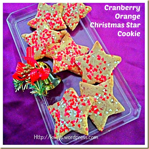 Time To Bake Your Christmas Cookies–Cranberry Orange Christmas Star Cookies 37
