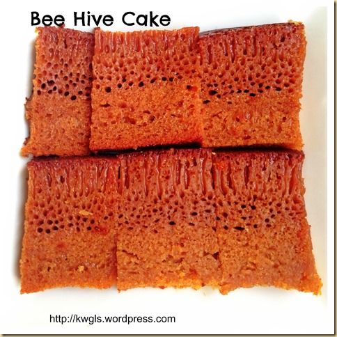 My Childhood Cake–Bee Hive Cake/Malaysian Honey Comb Cake or Kueh Sarang Semut (蜂巢蛋糕) 124
