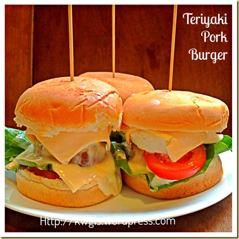 Easy Peasy Asian Heart Attack Burger–Teriyaki Pork Burger 46