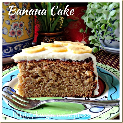 Banana Cake With Cream Cheese Frosting (香蕉蛋糕) 40