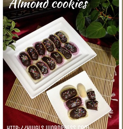 Chocolate Coated Almond Shortbread Cookies aka London Almond Cookies (伦敦杏仁饼) 35