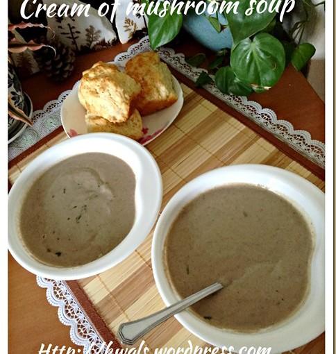 Cream of Mushroom Soup (蘑菇汤) 28