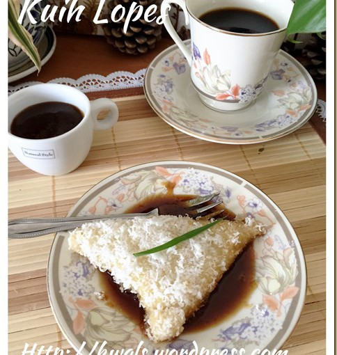 Kuih Lopes or Kue Lupis (三角椰丝糯米糕) 39