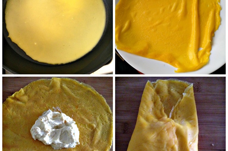 Durian Crepes or Durian Pancakes (榴莲班戟, 榴莲可丽饼) 8