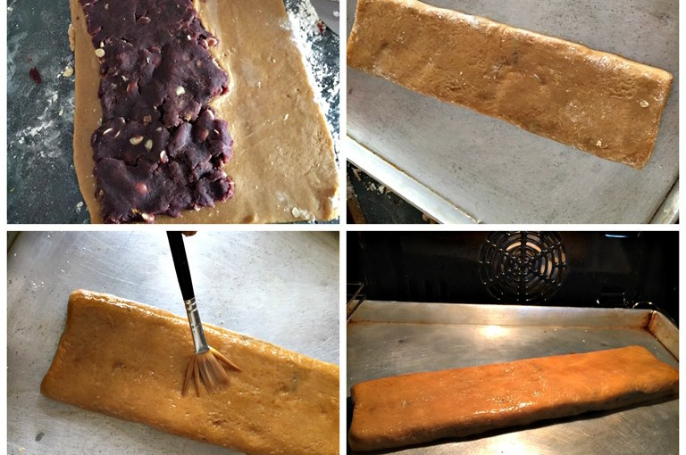 Red Bean Paste Rolled Cake (豆沙排饼) 8