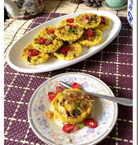 Malay Savoury Custard Cake–Kuih Bakar Berlauk (马来咸香烤糕) 34